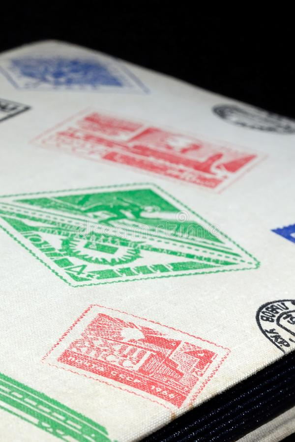 Álbum para selos postais fotos de stock royalty free