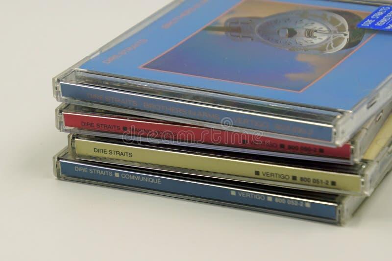 Álbuns do CD de Dire Straits fotos de stock royalty free