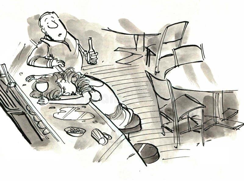 Álcool ilustração stock