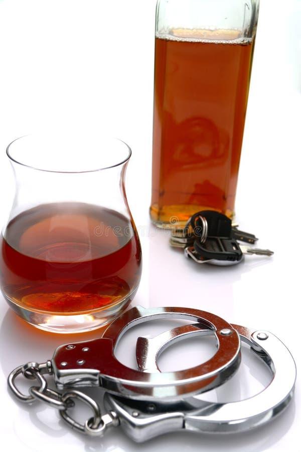 Álcool e a lei fotos de stock