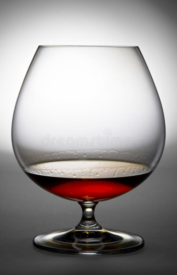 Álcool no vidro imagem de stock
