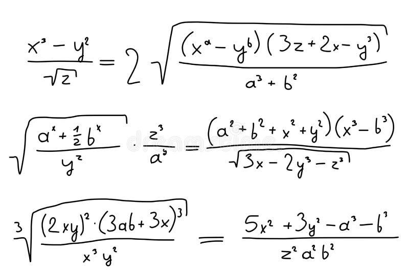 Álgebra ilustração stock
