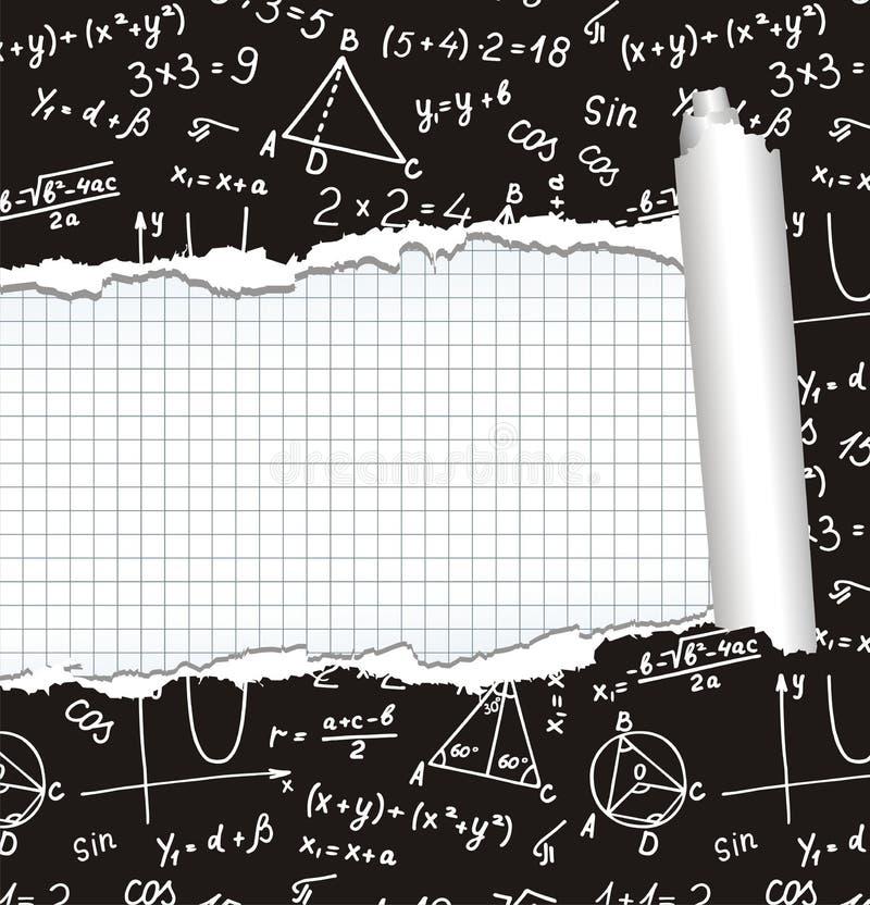 Álgebra. Geometria. Fundo abstrato. ilustração do vetor