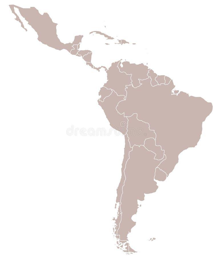 Ámérica do Sul ilustração stock