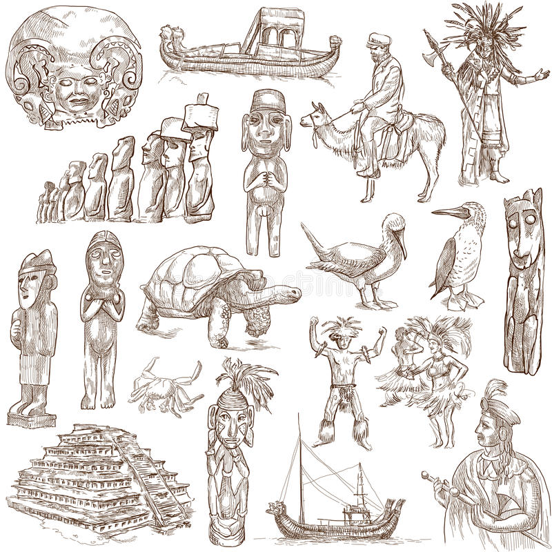 Ámérica do Sul 1 ilustração royalty free