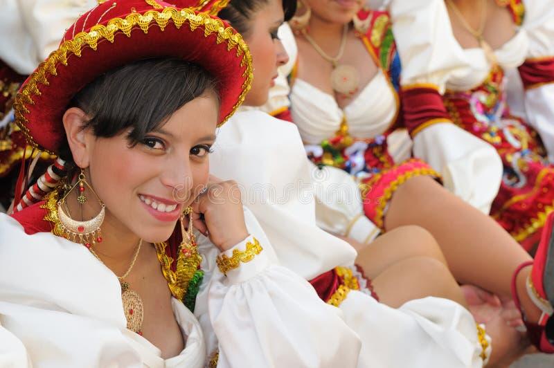 Ámérica do Sul - Bolívia, festa do sucre fotos de stock
