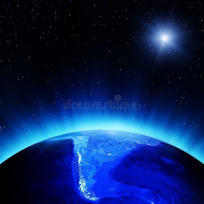Download Ámérica do Sul na noite ilustração stock. Ilustração de geografia - 29846403