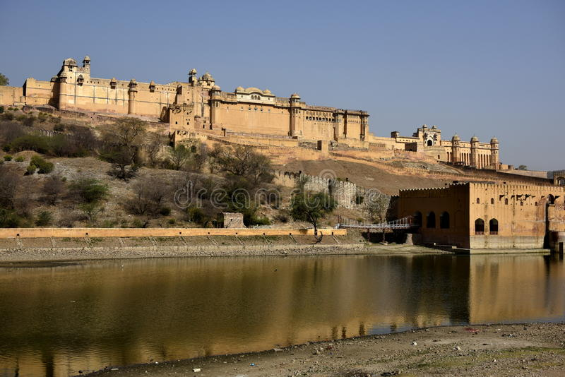 Ámbar del fuerte, la India fotografía de archivo