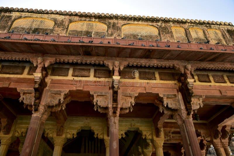 Ámbar del fuerte, la India imagenes de archivo