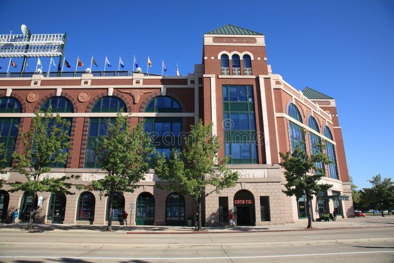 Ámbito de las Texas Rangers en Arlington fotos de archivo
