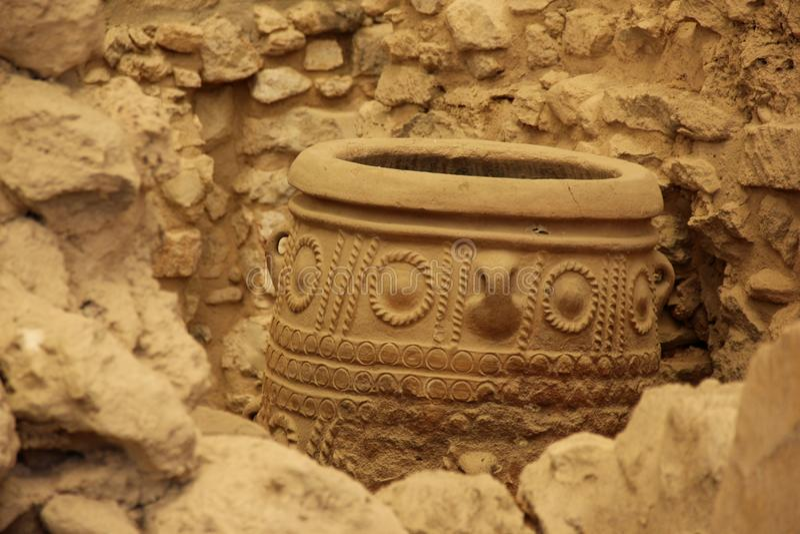 Ánfora de Minoan fotos de archivo