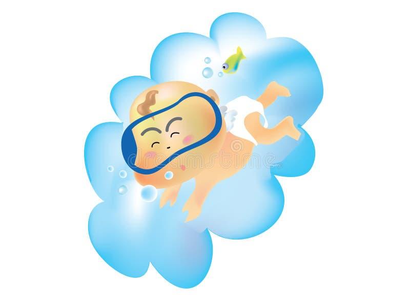 Ángel 02 del bebé foto de archivo libre de regalías
