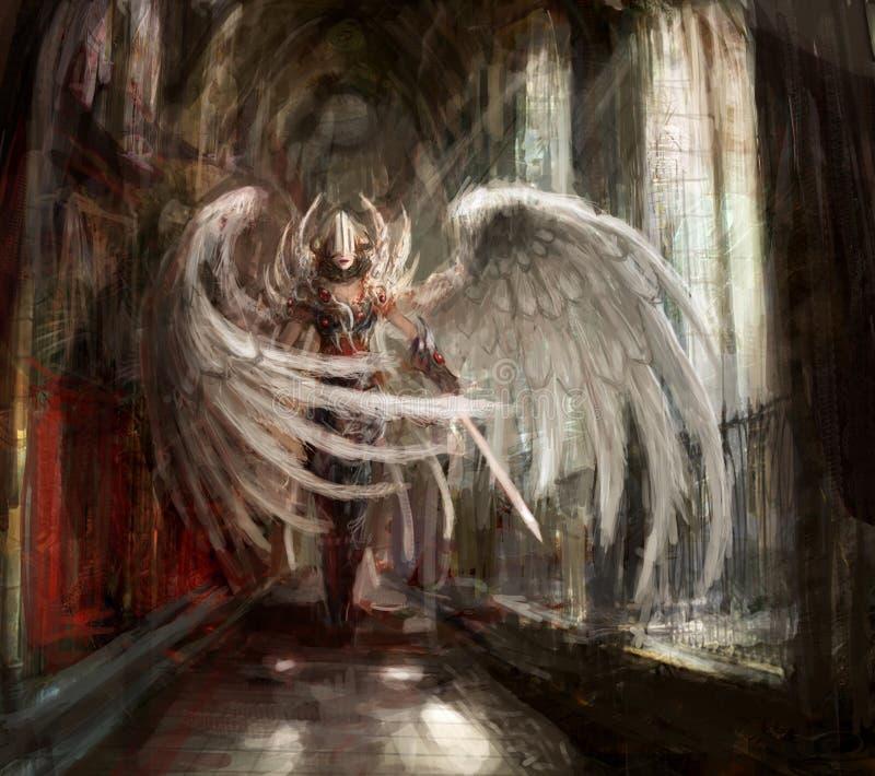 Ángel ilustración del vector