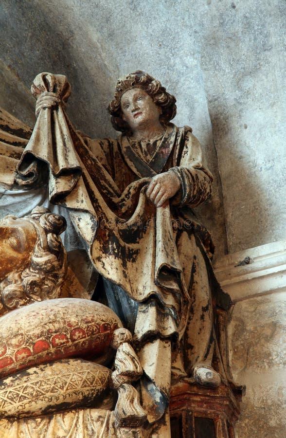 Ángel, altar de St Anastasius en la catedral de St Domnius en fractura foto de archivo libre de regalías