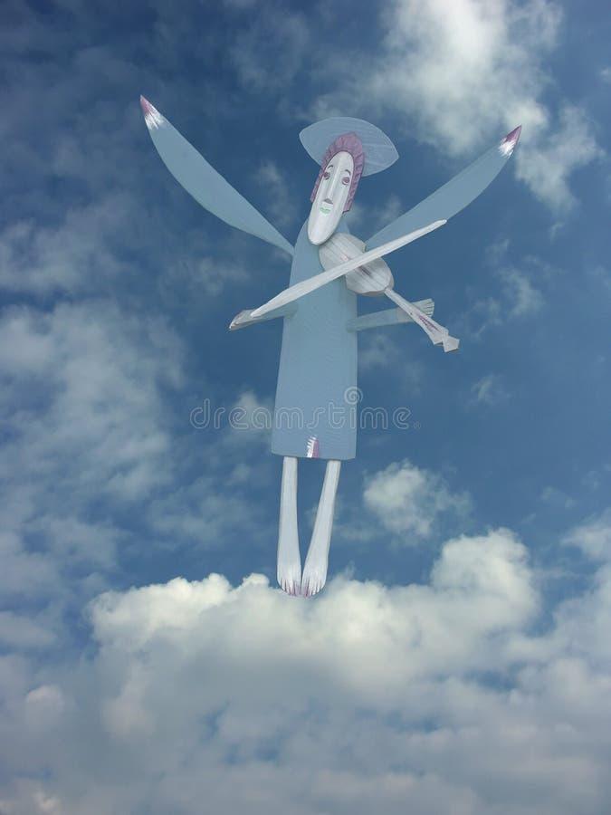 Ángel azul ilustración del vector