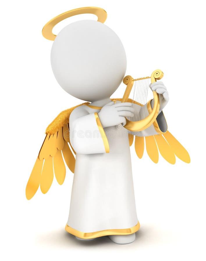 ángel blanco de la gente 3d stock de ilustración