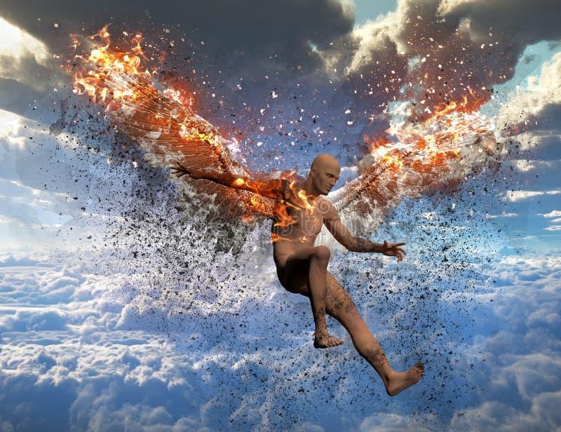 Ángel caido stock de ilustración