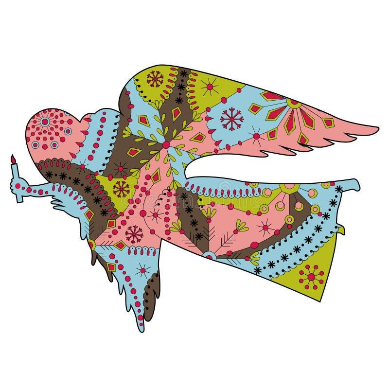 Ángel colorido stock de ilustración