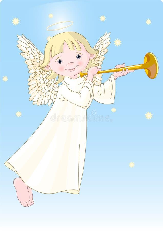 Ángel con el claxon ilustración del vector