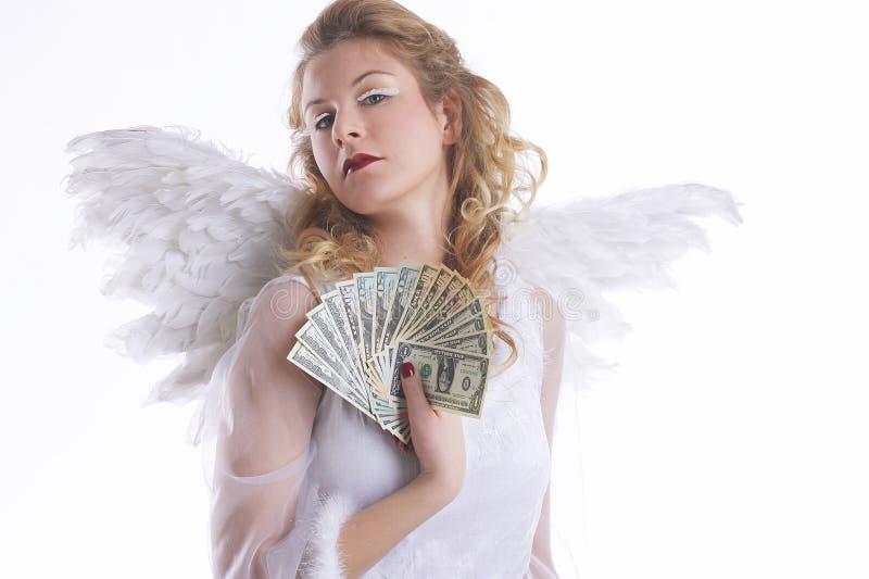 Ángel con el dinero foto de archivo libre de regalías