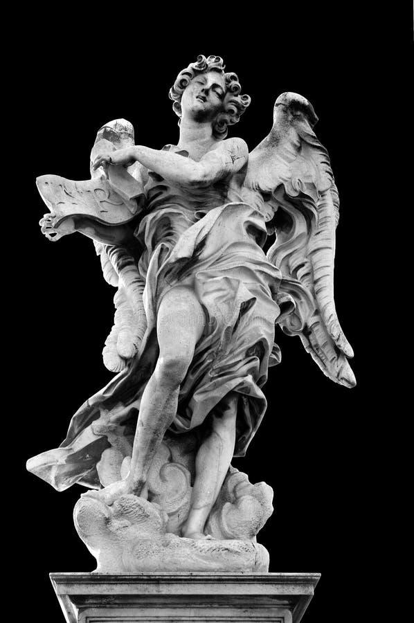 Ángel con el Superscription imágenes de archivo libres de regalías