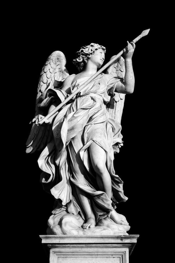 Ángel con la lanza foto de archivo libre de regalías