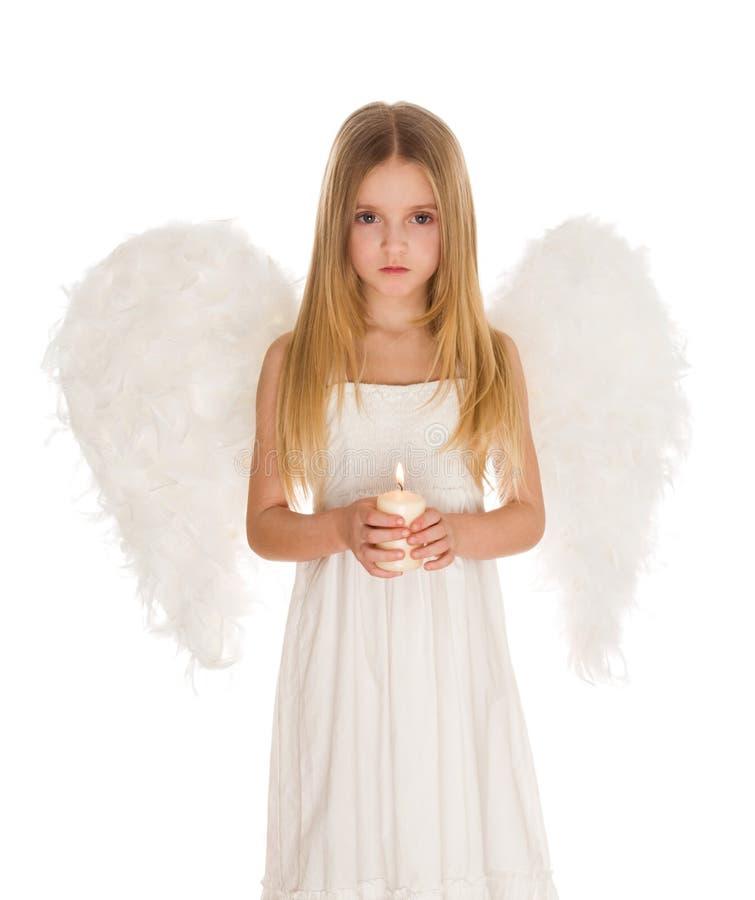 Ángel con la vela foto de archivo libre de regalías