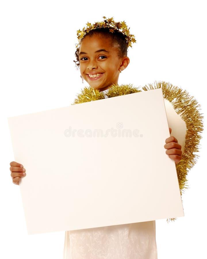 Ángel con un mensaje imágenes de archivo libres de regalías
