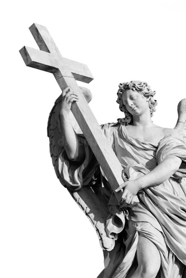 Ángel cortado blanco y negro foto de archivo