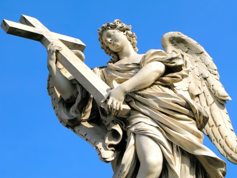 Ángel de Castel Sant'Angelo fotografía de archivo