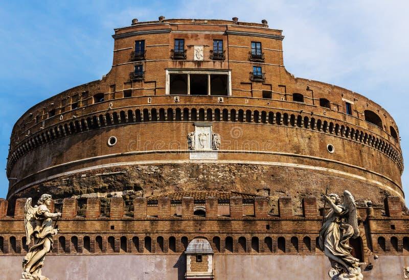 ` Ángel de Castel Sant en Roma, Italia foto de archivo libre de regalías