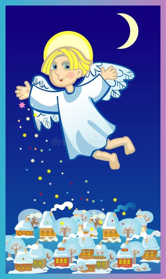 Ángel de Cristmas ilustración del vector