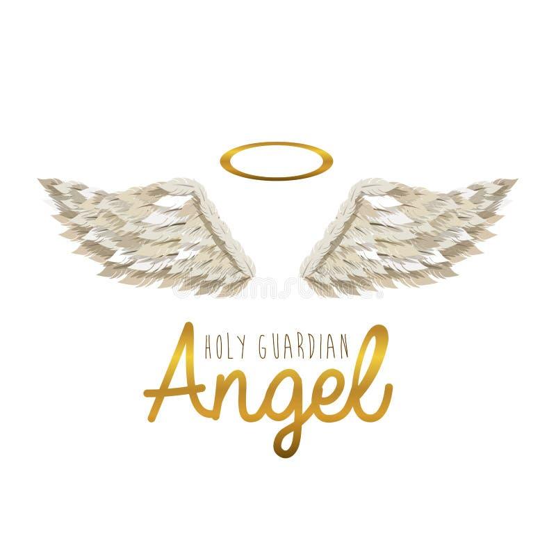 Ángel de guarda santo ilustración del vector. Ilustración de golden ...