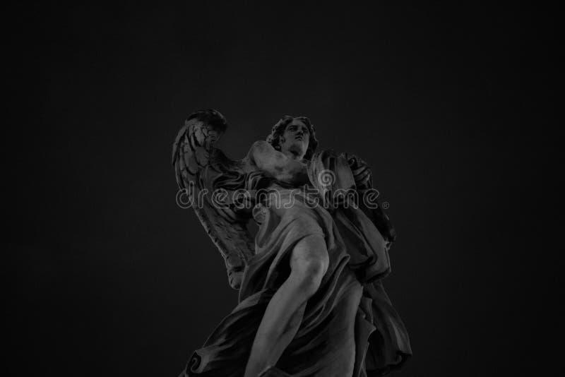 Ángel de la estatua de Castel Sant ' Ángel fotografía de archivo libre de regalías
