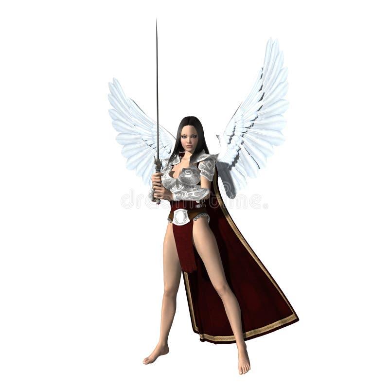 Ángel de la justicia stock de ilustración