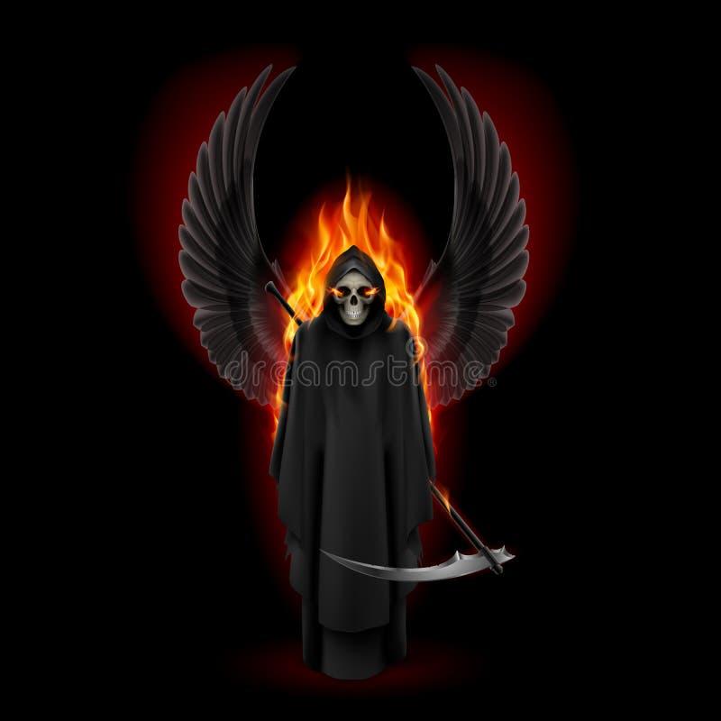 Ángel de la muerte ilustración del vector