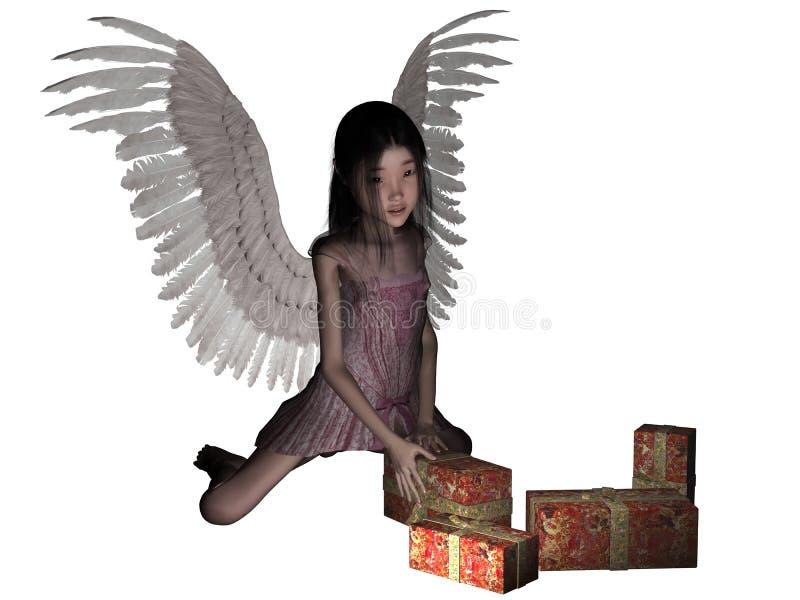 Ángel de la Navidad. fotografía de archivo