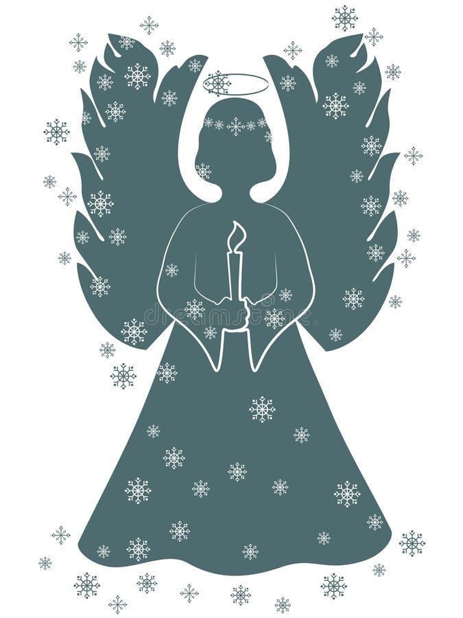 Ángel de la Navidad con una vela libre illustration