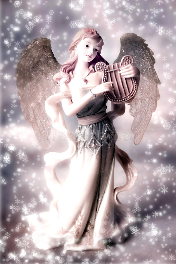 Ángel de la Navidad en colores retros fotografía de archivo libre de regalías