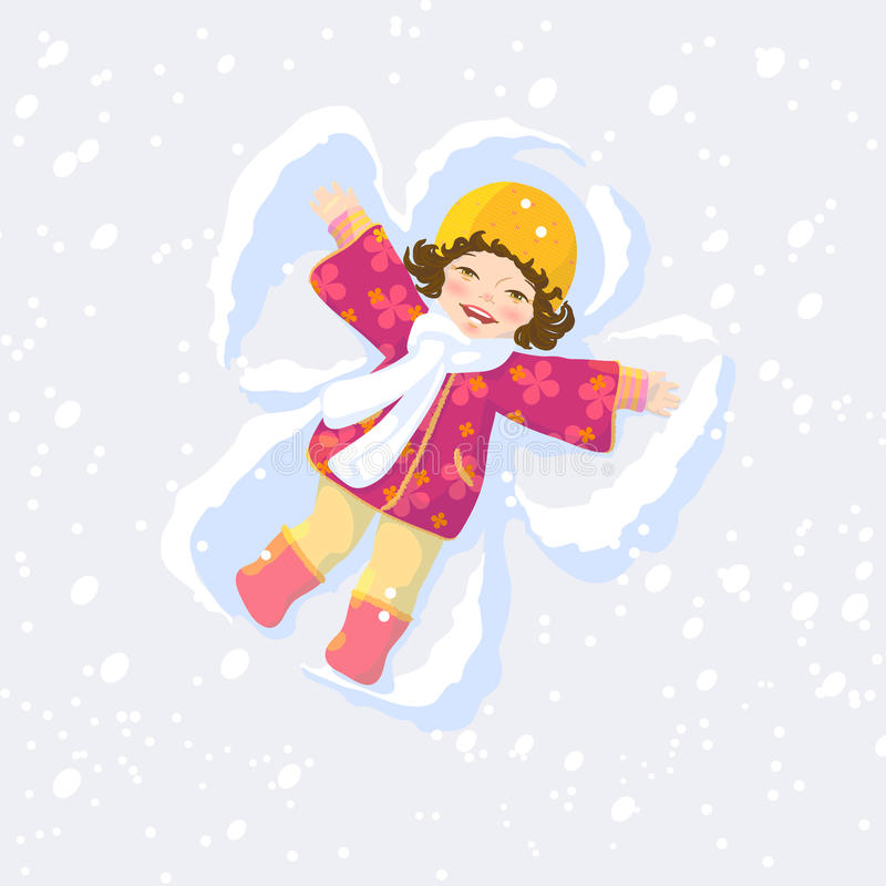 Ángel de la nieve libre illustration
