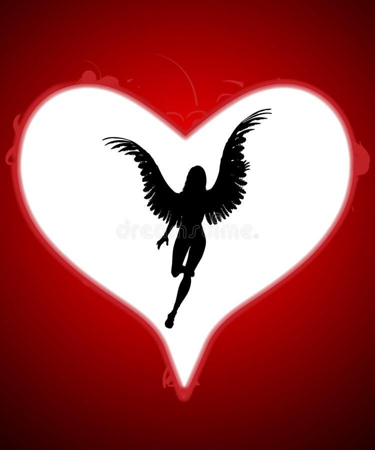Ángel de mi corazón stock de ilustración