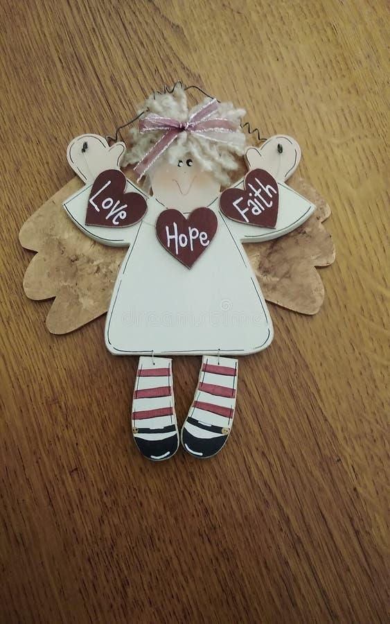 Ángel de Navidad a mano foto de archivo libre de regalías
