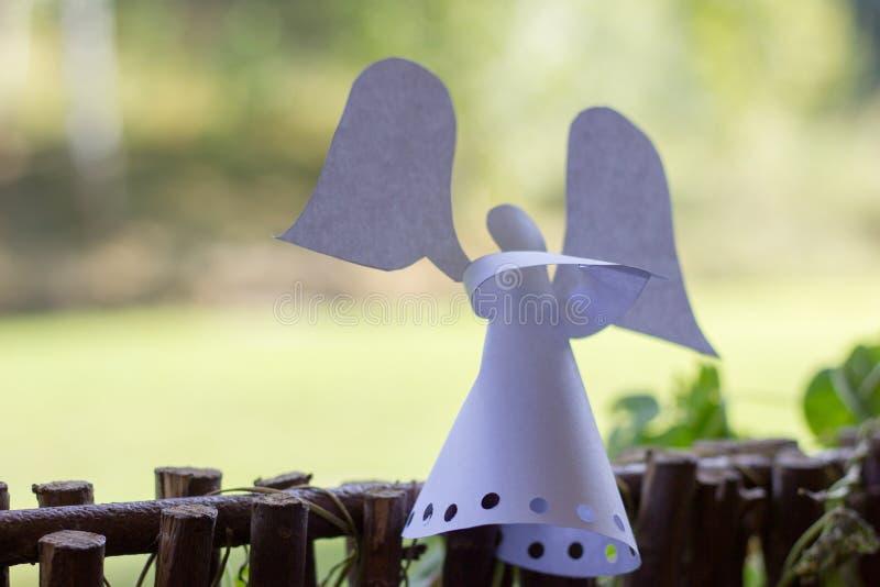 Ángel de papel de la decoración. fotografía de archivo libre de regalías