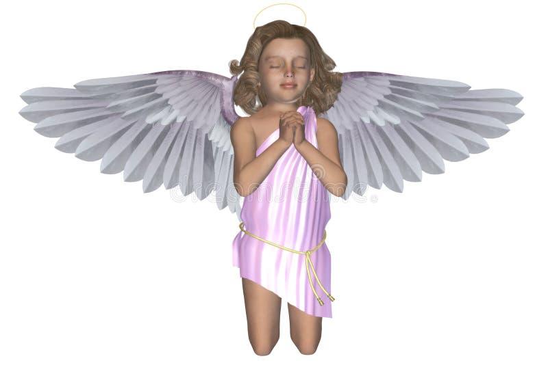 Ángel de rogación 4 ilustración del vector