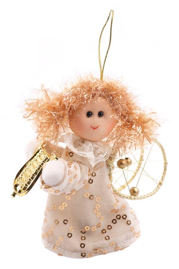 Ángel, decoración del árbol de navidad fotos de archivo