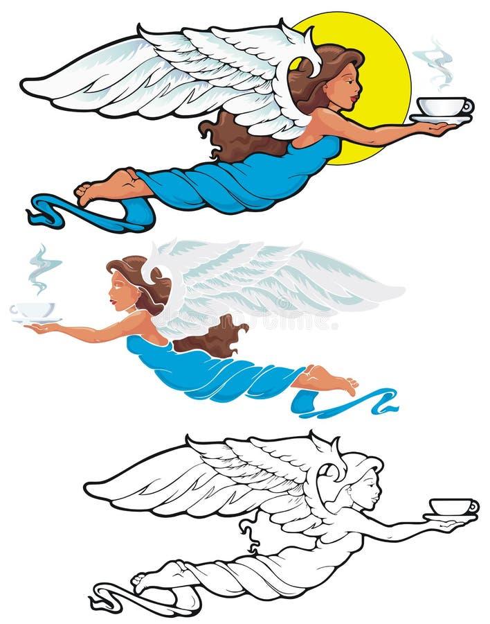 Ángel del café ilustración del vector