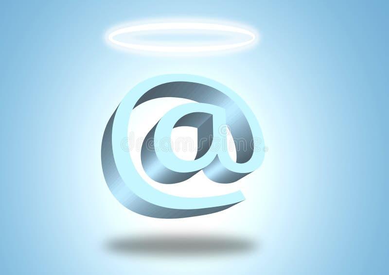 Ángel del email ilustración del vector