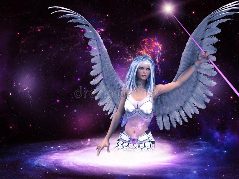 Ángel del espacio ilustración del vector