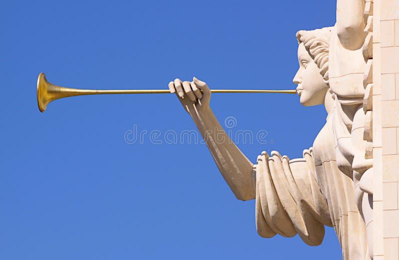 Ángel del trompetista. foto de archivo libre de regalías