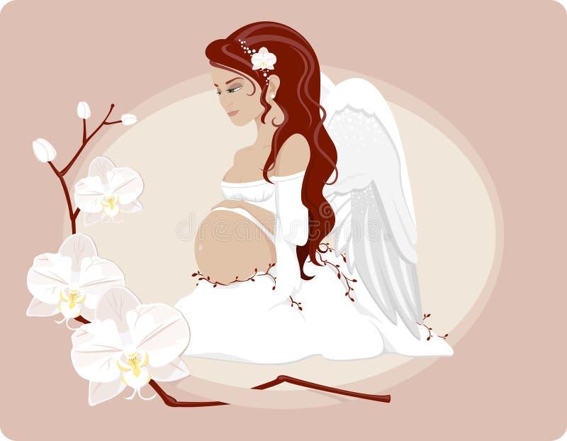 Ángel embarazado ilustración del vector
